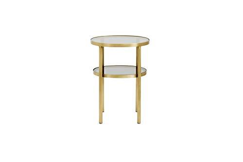 Nordal Tisch Luxury Oval Glas   Ein ovaler Beistelltisch mit zwei Etagen