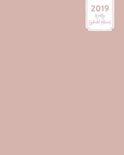 2019 Weekly Splendid Planner: Simple Soft Muted Mauve Pink Solid Plain Color Dated Calendar Schedule Book