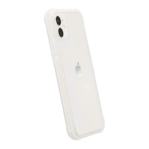 AmazonBasics - Funda protectora para iPhone 11, TPU+TPE+PC (blanco), antiarañazos