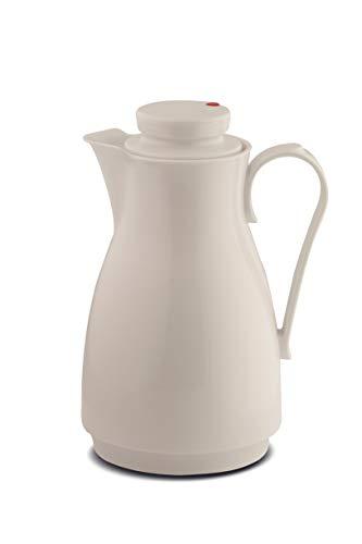 ROTPUNKT Isolierkanne 828 Karla 1,8 l   Zweifunktions-Drehverschluss   BPA Frei- gesundes Trinken   Made in Germany   Warm + Kalthaltung   Glaseinsatz   Arctic White
