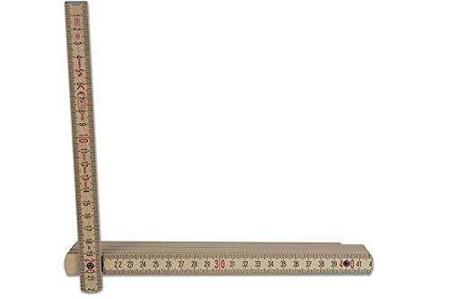 10 X Stabila Zollstock Meterstab 2 m Meter Braun Natur Gliedermaßstab