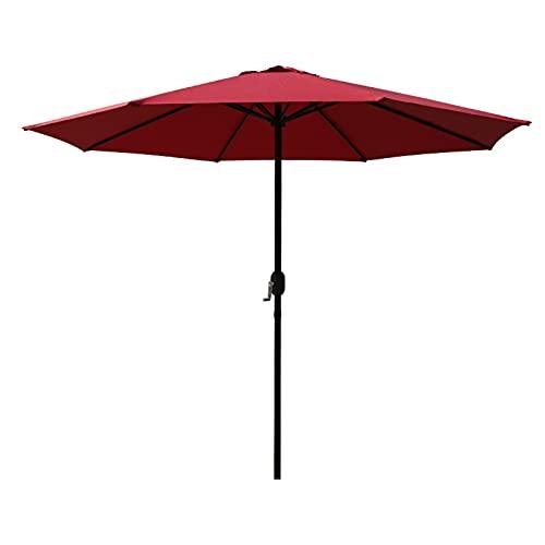 Sombrilla Terraza Parasol Jardin Paraguas de Mesa de Patio Al Aire Libre, Sombrilla de 2,6 M para Piscina/Playa/Jardín/Restaurante, Protección UV50 + UV Sunbrella con Manivela (Color :...