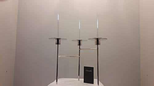 Christofle Candelier 3 Fiamme Lega Argento Radius. NB:Oggetto ESPOSTO in CAMPIONARIO. Mis 40x25H cm