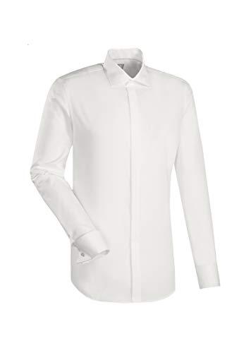 Jacques Britt Herren Gala-Scala VL UMA (98) Smokinghemd, Elfenbein (Creme 2), X-Large (Herstellergröße: 43XL)