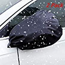 ZATAYE Car Side Mirror Snow Covers - 2 Pack Side Mirror Protective Cover Snow and Ice Mirror Covers Protect Mirrors from Snow Ice Frost Rain with Anti Theft Mechanism Fits Cars SUV Truck Van
