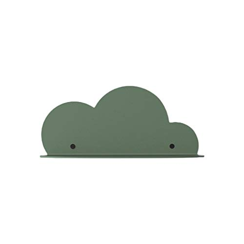 gszfsm001 - Estantería de pared de hierro forjado en forma de nube para colgar en la pared, expositor de perchas para decoración de dormitorio