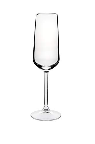 Wiltshire Allegra Flute Glass 4 Pieces Pack, 195 ml Capacity