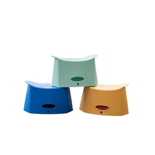 Taburete Plegable para Acampar Silla de Pesca Plegable Multifuncional para Interior y Exterior Cesta PortáTil de PláStico,