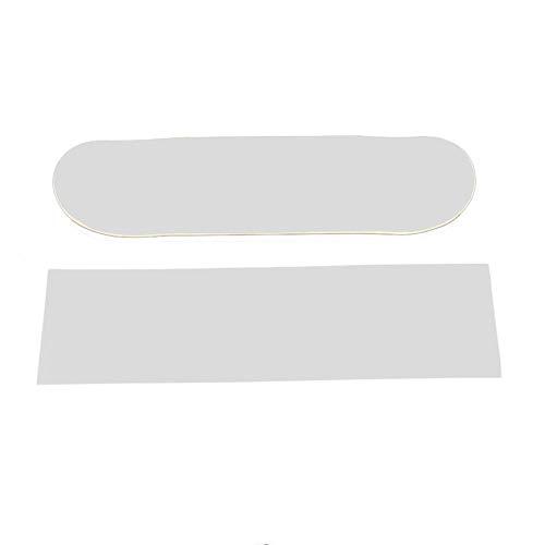 Biback 84x23 cm Skateboard 4 Wheel Schleifpapier Griptape Verschleißfest Haarverdichtung groß Deck Schleifpapier Griptape für Skaten/durchsichtig 9
