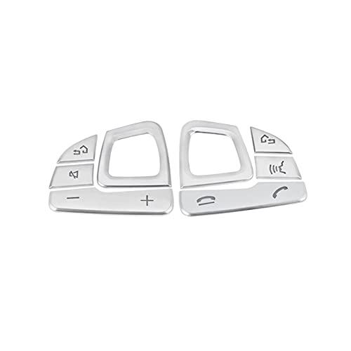 YFTGD Korean Pine Pegatina de Recorte del Interruptor del Interruptor de la Cubierta del Volante del automóvil Ajuste para Mercedes E-Class W213 2016-2019 Decoración de la Etiqueta