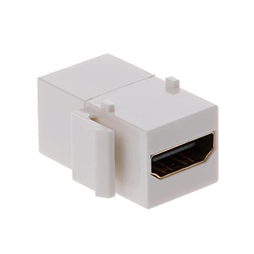 1 conector HDMI macho Keystone HDMI Insert Acopler Slot Hembra a Hembra Cable Ethernet