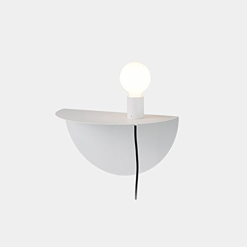 Appliques murales en fer à la mode, Applique murale minimaliste moderne LED pour enfants Nordic Living Room Allée Table murale (Color : White)