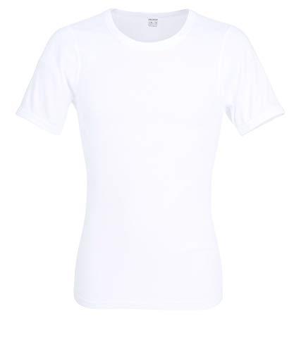 Ceceba Herren T-Shirt, Kurzarm, Baumwolle, Doppelripp, weiß, Uni 6