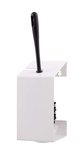 All Care 13205 MediQo-line Porte-brosse WC en acier inoxydable Blanc