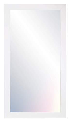 Chely Intermarket- Espejos de Pared 60x90 cm (Marco Exterior 67x97cm) (Blanco-Liso) Mod 128 Forma Rectangular/Salón,...