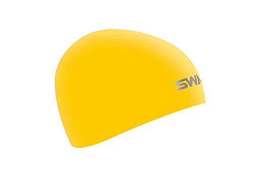 SWANS(スワンズ) スイムキャップ 水泳 競泳用 シリコーンキャップ ドーム型 Fina承認モデル イエロー SA-10S
