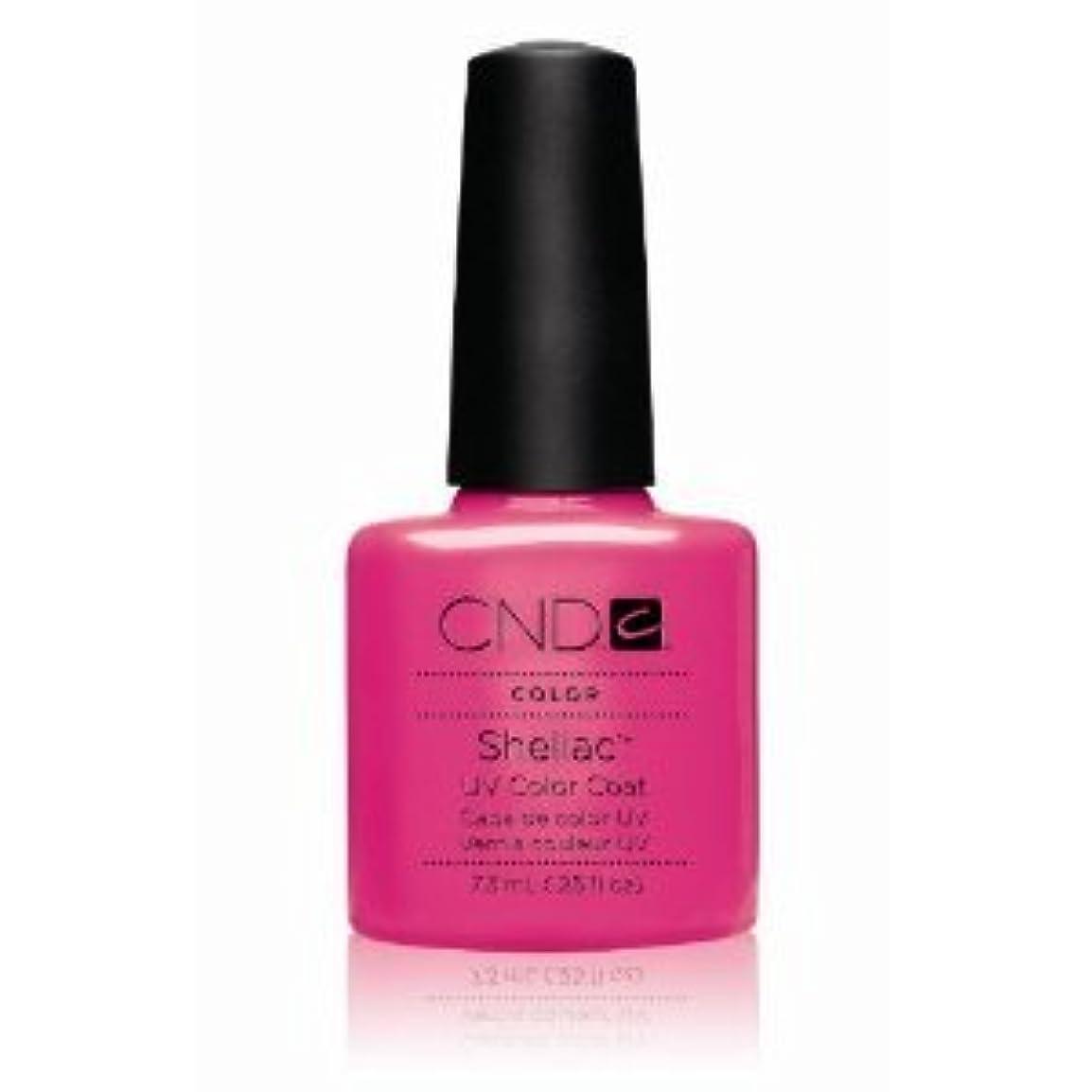 文明化コンテンポラリー整理するCND(シーエヌディー) シェラック UVカラーコート7.3mL 519 Hot Pop Pink(マット) [並行輸入][海外直送品]