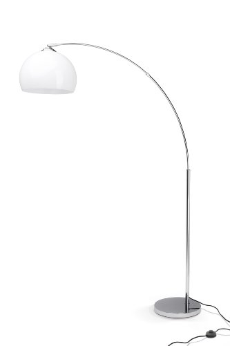 Brilliant AG 92940/75 Lampadaire, Chrome, E27, 60 W, Blanc