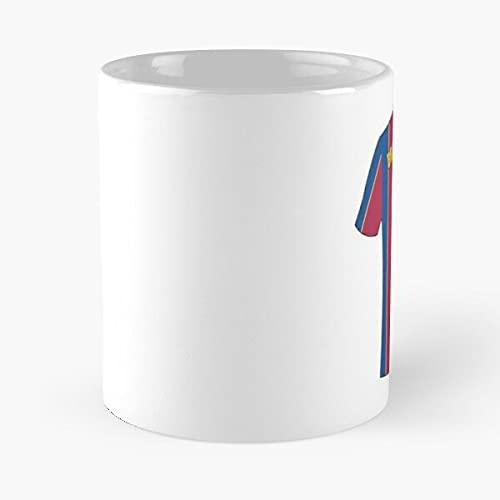 Martin Braithwaite Barcelona Football Jersey Number - Taza de café de cerámica blanca de 11 oz para hombres, mujeres, niños y niñas.
