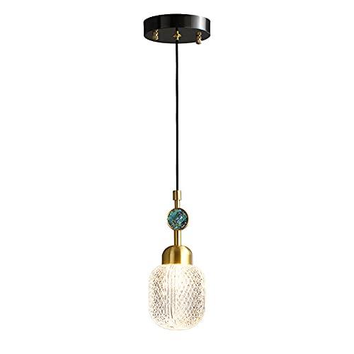 NAMFSR Lámpara de araña de lujo moderna y simple lámparas colgantes todo cobre pequeña suspensión luces G9 fuente de luz Droplight comedor bar contador iluminación colgante lámpara