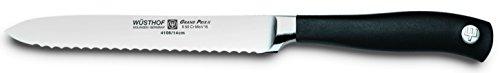 Wusthof Grand Prix II Serrated Utility Knife, 5 inches, Black