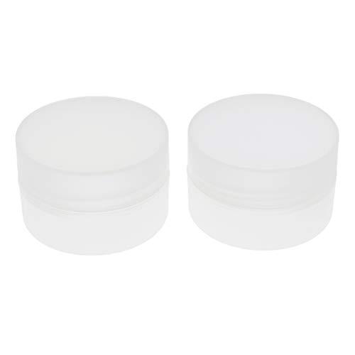 B Baosity 2x Bouteilles Cosmétiques Récipients Maquillage Pot Crème - Clair