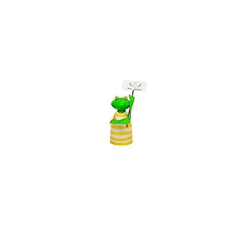 Bavaria Home Style Collection- kikker hek figuur tuinier hek lattenfiguur hek kruk palen kruk deco figuur deco voor tuin vijver grote keuze (verrekijker) geel