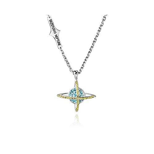 Harajuku Diamante De Imitación Planeta Colgante Collar De Cadena Collar Indie Rock Gótico Estético Collar Accesorios Joyería Personalidad Tendencia