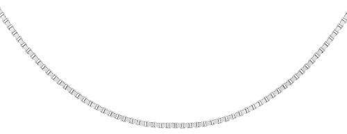 Carissima Gold Collar unisex con oro blanco de 14K (585/1000), sin gema, 41 cm
