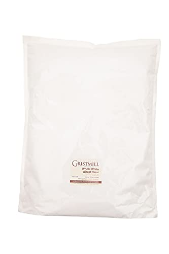 Homestead Gristmill Stone Ground Whole White Wheat Flour - Non-GMO, Chemical-Free Artisanally Milled from Hard White Wheat Berries - Long Shelf Life - Made In The USA - 10 Pounds