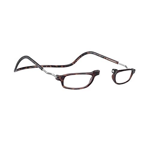 Lesebrille Damen und Herren Original CliC Readers | Magnetbrille mit ausziehbaren Stange | Lesehilfe reading glasses | Lesebrille Lesehilfe +2.5