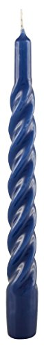 CERERIA DI GIORGIO risthò Kerzen TORTIGLIONE lackiert, Wachs, Blau, 2.2x 2.2x 21cm, 6Stück