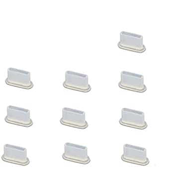 10Pcs USB C Anti Dust Plugs Silicone Dust Plug Dust Port Covers Type-C Dust Plug for Smartphone Laptop Clear