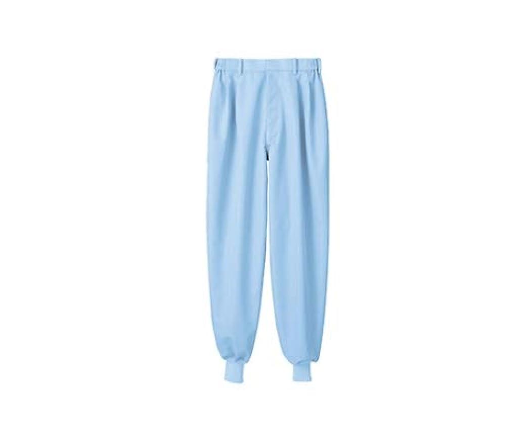 排出哲学的突然パンツ 男女兼用 ブルー 裾フライス/61-6155-79