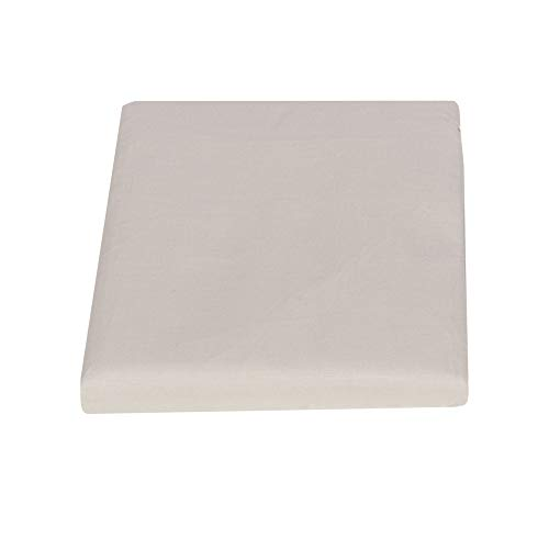 Fazzini Arianna - Sábana bajera para cama de plaza y media (140 x 200 cm), color gris claro