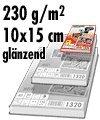 Glänzendes Fotopapier (Fotokarten) 50 Blatt 10 x 15 cm / 230 gr. / 9.600 dpi / 1303