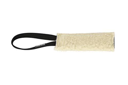 Dingo Gear Beisswurst mit einem Griff Schafe Wolle Plush Naturfarbe 6x20 cm Apport Training mit Hund S00428