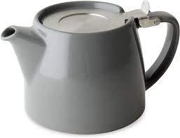 Forlife Teekanne mit Aufgusskammer, 530 ml (grau) inklusive einer Probe des Tees Mystic Brew's Loose Leaf Tea