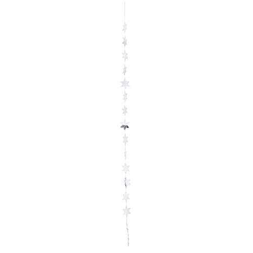 Capizketting kleine sterren zilver Lengte: 120cm