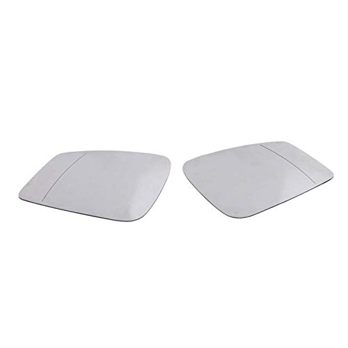 ZIS Ajuste Lateral Derecho/Izquierdo para BMW F20 F22 F30 F34 2010-2014 3 Serie 2 Pin Side Side Highled Mirror Blanco Glass (Color : White)