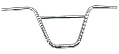 GAOJJ Manillar de Bicicletas BMX Freestyle de 9.3 Pulgadas, Acero 4130 CR-Mo, 736 mm × 236 mm,Plata