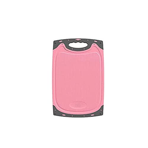 Dabeigouzzhenbb Tabla Cortar 1 PC Tablero de Corte de Trigo Paja Vegetal Vegetal Picar Tabla Colgando Agujero Espiador Prevención Accesorio de Cocina Ajo Muela (Color : Pink, Size : S 33.5x20cm)