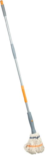 "Casabella Wring Leader 56"" Cotton Floor Mop, Graphite/Orange"