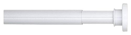 Sealskin Teleskop Duschvorhangstange 125-220 cm, Klemmstange aus Aluminium für Dusche und Badewanne, Farbe: weiß, Durchmesser: 28 mm, Montage ohne Bohren