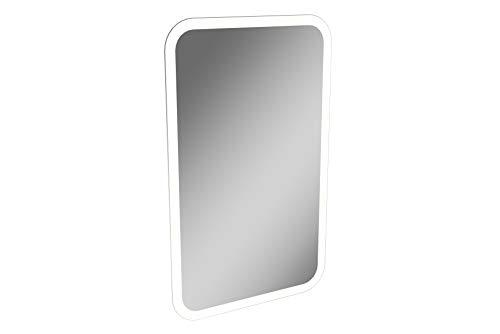 LANZET led-spiegel K3 / wandspiegel met rondom ledverlichting / afmetingen (B x H x D): ca. 45 x 73 x 3 cm, spiegel voor badkamer of gastentoilet, badkamerspiegel met indirecte verlichting, afgeronde hoeken.