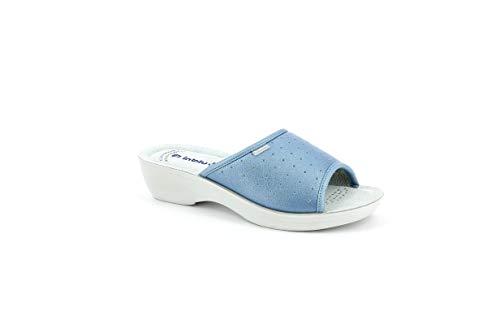 inblu Pantofole Ciabatte SANITARIE Donna MOD. PL-45n Azzurro (37 EU)