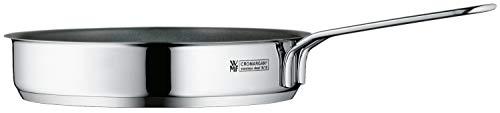 WMF Mini poêle à frire en acier inoxydable Cromargan poli à induction, empilable, idéale pour les petites portions ou les célibataires.