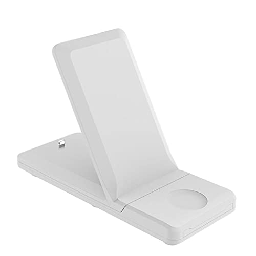Cargador inalámbrico 3 en 1 H6 Estación de carga de alta velocidad Dock para soporte plegable fácil de transportar Titular 15W para teléfono inteligente reloj blanco accesorios móviles