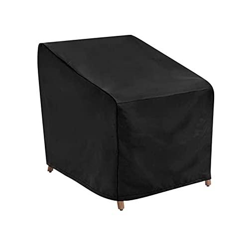 primrosely Funda protectora para sillas apilables de jardín 977989/48 cm, cubierta para silla de jardín, cubierta de Oxford, resistente al agua, para sillas apilables, de balcón, barbacoa, color negro