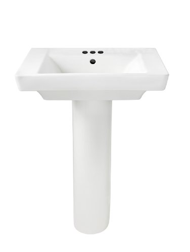 American Standard 0641.400.020 Boulevard Pedestal 4-Inch Counter, White
